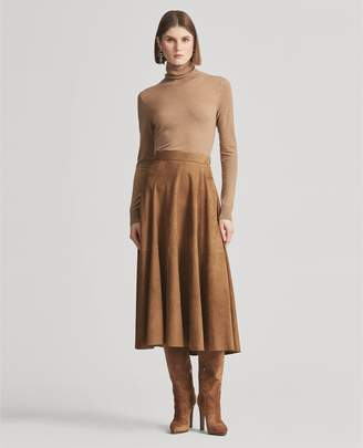 Ralph Lauren Christiane Lamb-Suede Skirt