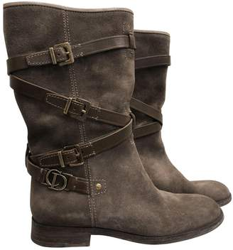 Christian Dior Brown Leather Boots