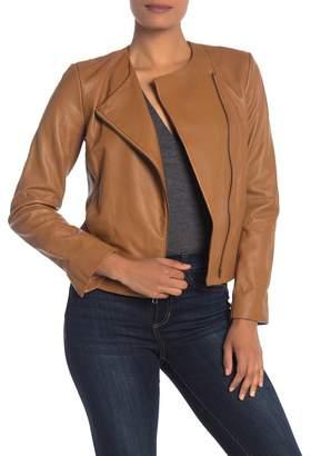 Vince Paneled Leather Moto Jacket