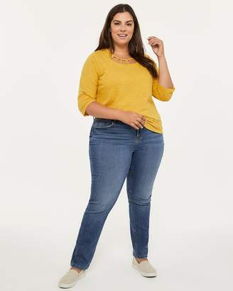 ONLINE ONLY - Tall Straight Fit Straight Leg Jean with Studs - d/C JEANS