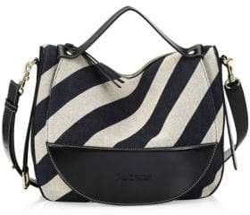 J.W.Anderson Moon Linen Stripe Shoulder Bag