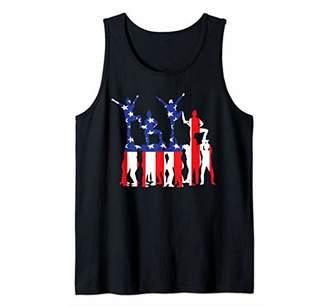 Cheerleading USA Flag American Inside Me Dancer Cheerleader Tank Top