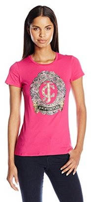 Juicy Couture Black Label Women's Logo Jc Lace Short Sleeve Tee $88 thestylecure.com