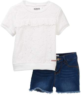 Hudson Jersey Lace Top with Shorts (Toddler Girls)