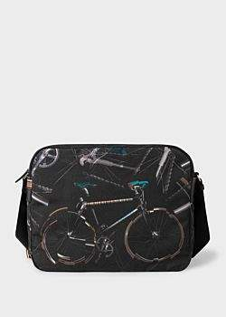 Paul Smith Men's 'Paul's Bike' Print Canvas Messenger Bag