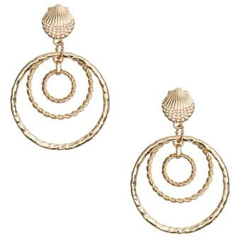 Lilly Pulitzer R) Celestial Seas Hoop Earrings