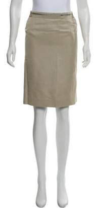 Alberta Ferretti Knee-Length Pencil Skirt Khaki Knee-Length Pencil Skirt