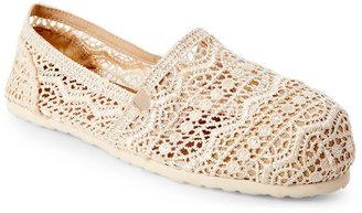 esprit Ivory Toso Aztec Crochet Slip Ons $39 thestylecure.com