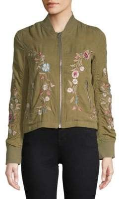 Driftwood Zoe Embroidered Bomber Jacket