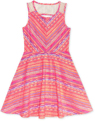 Epic Thread Lace-Back Skater-Dress, Big Girls (7-16), Only at Macy's $42 thestylecure.com