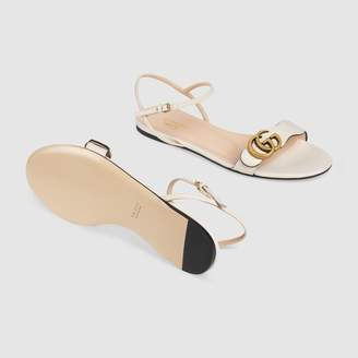 Gucci Leather sandal with DoubleG