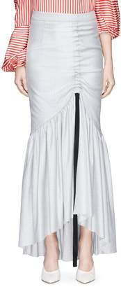 Hellessy 'Ruben' ribbon sash ruched maxi mermaid skirt