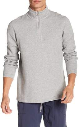 Reigning Champ Double Knit Half Zip Long Sleeve Sweatshirt
