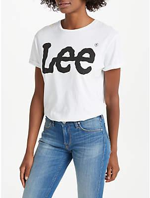 Lee Short Sleeve Logo T-Shirt, White