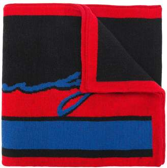 Givenchy logo stripe scarf