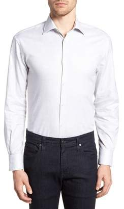 John Varvatos Regular Fit Stretch Check Dress Shirt