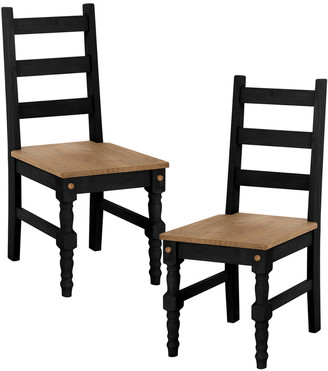 Manhattan Comfort Jay Set Of 2 Piece Solid Wood Dining Chairs