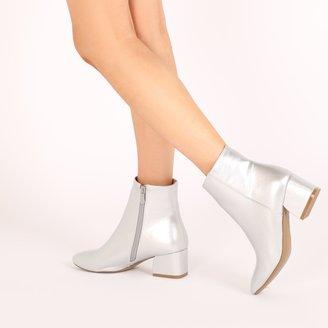 Public Desire Sierra Flare Heel Ankle Boots
