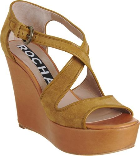 Rochas Criss-Cross Wedge Sandal