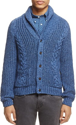 Brooks Brothers Shawl Collar Cable-Knit Cardigan Sweater $198 thestylecure.com