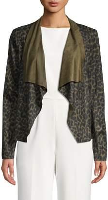 Bagatelle Leopard-Print Open-Front Jacket