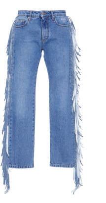 MSGM Fringe Jeans