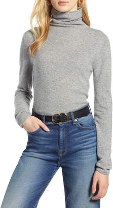 Halogen Funnel Neck Cashmere Sweater