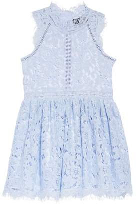 Bardot Junior Floral Lace Fit & Flare Dress