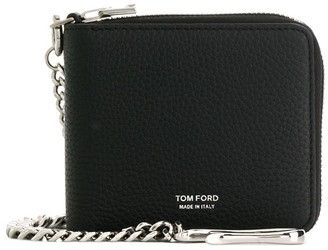 Tom Ford logo print chain wallet