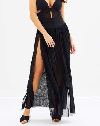 Jets Banded Maxi Skirt