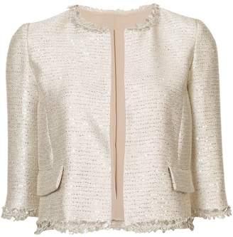 Oscar de la Renta fern embellished cropped jacket
