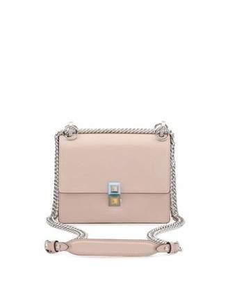 Fendi Kan I Mini Leather Chain Shoulder Bag, Beige $1,700 thestylecure.com