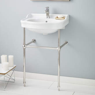 """CheviotProducts Metal 23"""" Console Bathroom Sink with Overflow"""