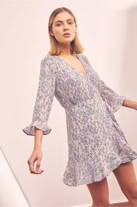 The Fifth TOUR WRAP LONG SLEEVE DRESS lavender field