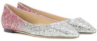 Jimmy Choo Romy Flat glitter ballerinas