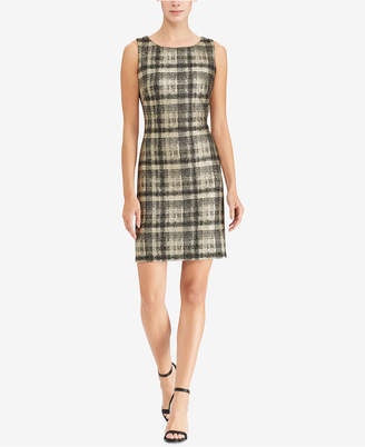 American Living Metallic Plaid Dress