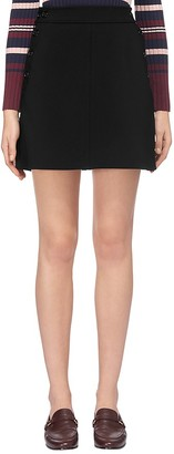 Whistles Denise A-Line Snap Skirt $180 thestylecure.com