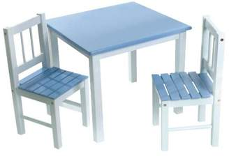 Lipper International, Inc. Child's Blue/White Table And 2 Chairs Set