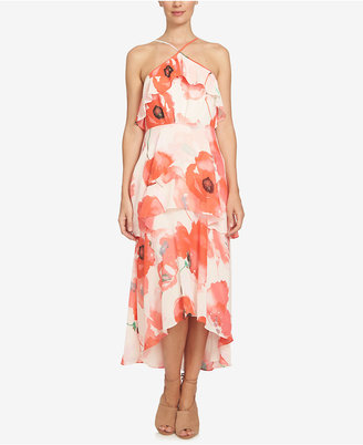 CeCe High-Low Ruffled Maxi Dress $169 thestylecure.com