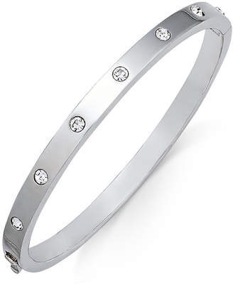Kate Spade Silver-Tone Crystal Bangle Bracelet