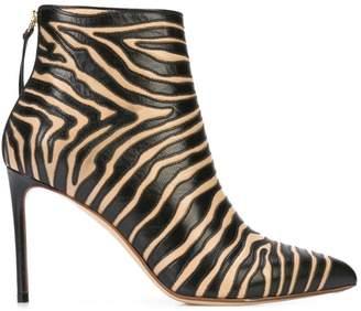 4e7bd8a7ebe Francesco Russo zebra print boots