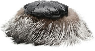 Moncler fox fur hat