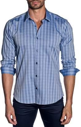 Jared Lang Men's Modern-Fit Check Long-Sleeve Shirt