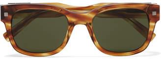 Ermenegildo Zegna Square-Frame Tortoiseshell Acetate Sunglasses - Tortoiseshell