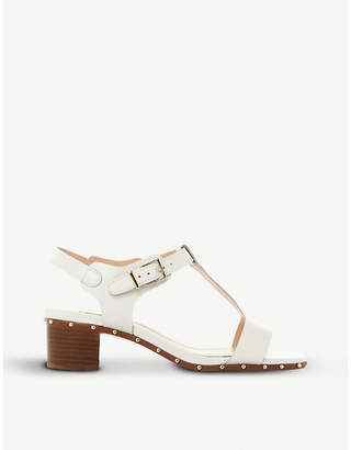 Dune Isadora studded leather T-bar sandals