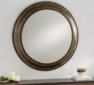 Pottery Barn Galvanized Barn Round Mirror