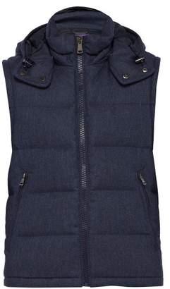Ralph Lauren Purple Label Down Filled Wool Gilet - Mens - Navy