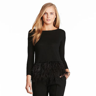 Polo Ralph Lauren Feather-Trim Merino Sweater $298 thestylecure.com