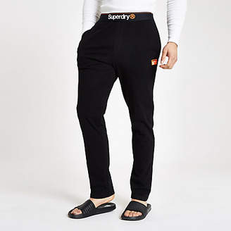 River Island Superdry black loungewear trousers