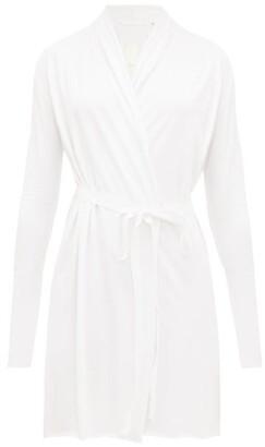Skin - Wrap Around Cotton Jersey Robe - Womens - White
